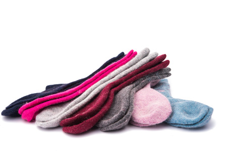warm socks isolated on white  photo
