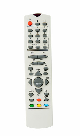 TV remote isolated on white
