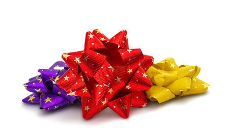 gift bow isolated on white background photo