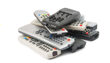 vcr: TV remote isolated on white background