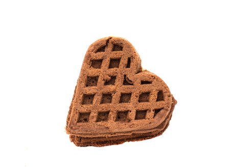 cookies heart on white background photo