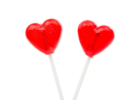 candy heart on a white background photo