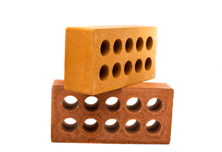 bricks isolated on a white background photo