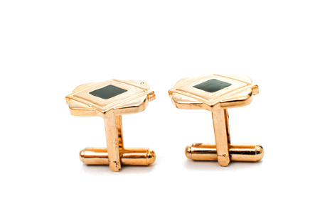 cufflinks on a white background photo