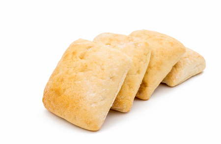 Ciabatta (Italian bread), isolated on a white background photo