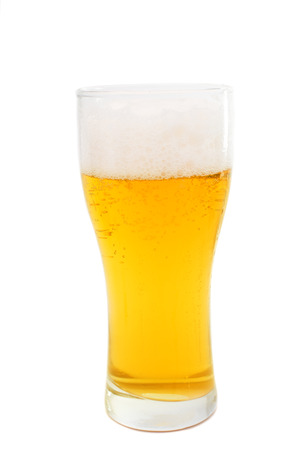 beer isolated on white background photo