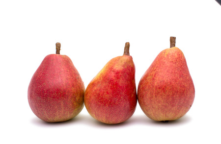 williams: Ripe pears on a white background