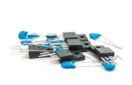 electrolytic: Resistencias aislados en blanco