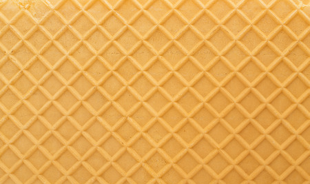 Structure of a baked golden waffle background Zdjęcie Seryjne