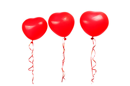red balloon: red balloons on white background
