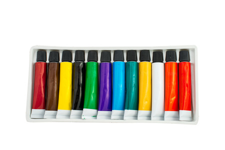 tube of paint on a white background photo