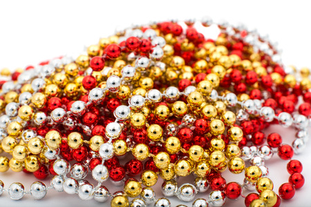 New beads on a white background photo