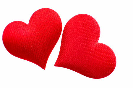 red heart isolated on white background photo