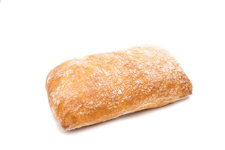 ciabatta: Ciabatta (Italian bread), isolated on a white background
