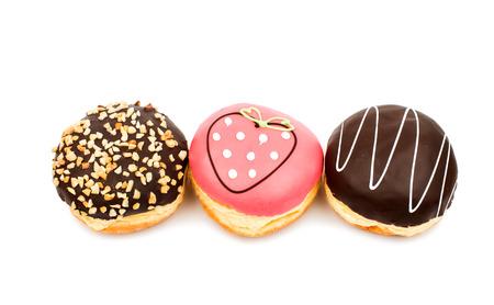 goodies: donut glaze on a white background