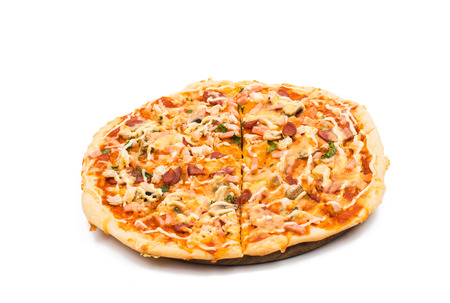 Italian pizza on a white background