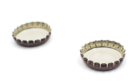 beer bottle cap on a white background photo