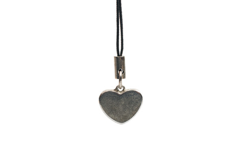 locket: heart pendant on a white background Stock Photo