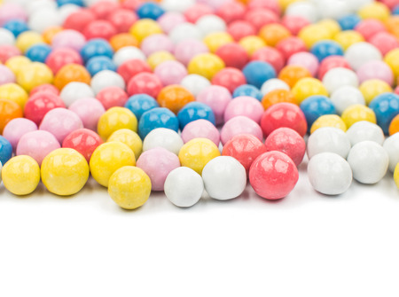 dragee: color dragee on a white background