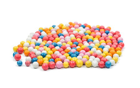 gum: color dragee on a white background