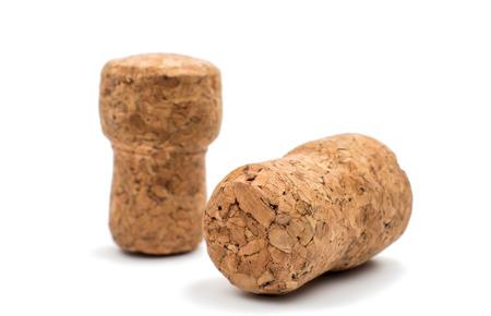champagne cork: champagne cork on a white background