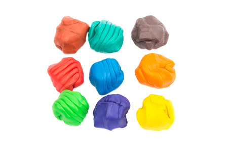 modeling clay: modeling clay on a white background Stock Photo