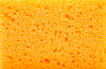 orange yellow: Kitchen sponge isolated on the white background