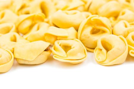 tortellini: tortellini on a white background
