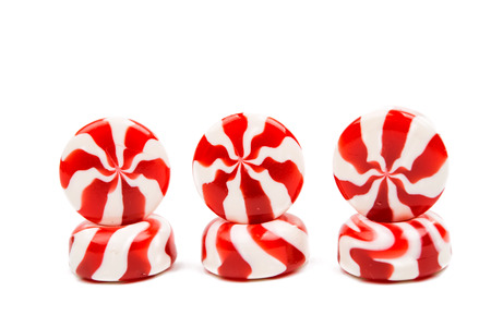 uncluttered: candy on a white background Stock Photo