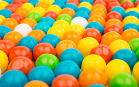uses: gummy ball candies for background uses Stock Photo