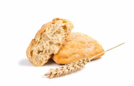 full of holes: Ciabatta (Italian bread), isolated on a white background