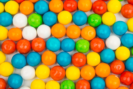 kiddie: gummy ball candies for background uses Stock Photo