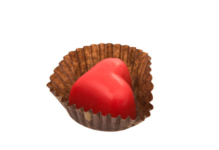 chocolate candy: Candy hearts on a white background