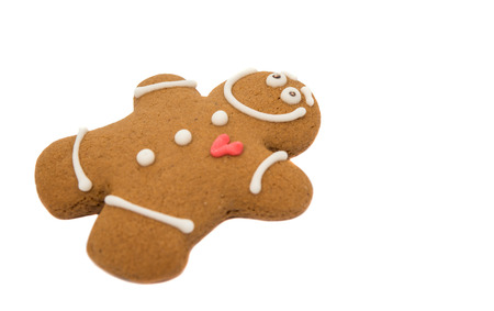 gingerbread man on a white background