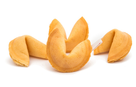 bad fortune: Fortune Cookies on a white background