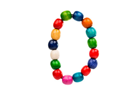 female sexy chains: colored wooden beads on a white background