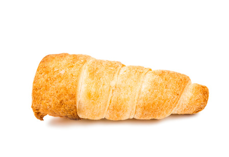 twain: puff rolls with cream on white background