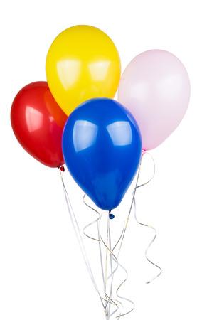 globo: Globos de colores aislados sobre fondo blanco  Foto de archivo