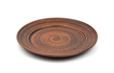 earthenware dish on a white background