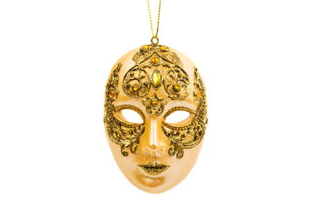 carnival in venice: carnival mask isolated on white background