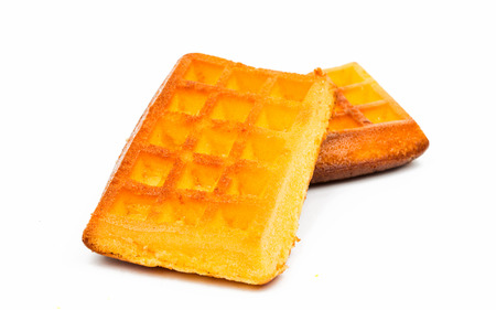 wafers: Biscuit wafers on a white background Stock Photo
