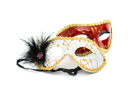 masquerade costumes: masquerade mask on a white background