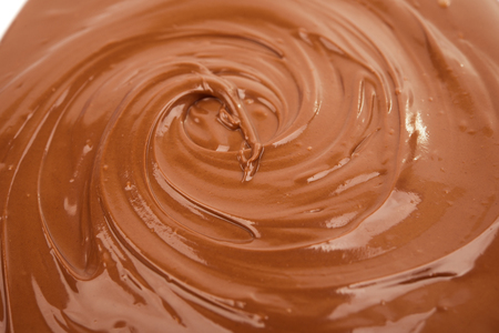 Close up photo of chocolate flow