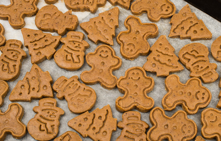 gingerbread cookies: Christmas gingerbread cookies on a white background Stock Photo