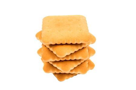 full of holes: cracker biscuits on a white background