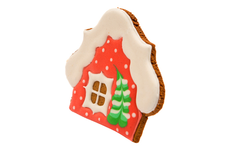gingerbread house: gingerbread house on a white background