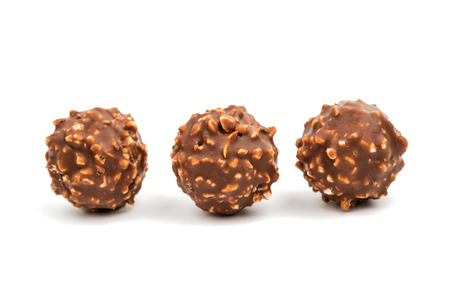 truffe blanche: Truffle candy on a white background