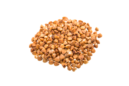 buckwheat groats isolated on a white background