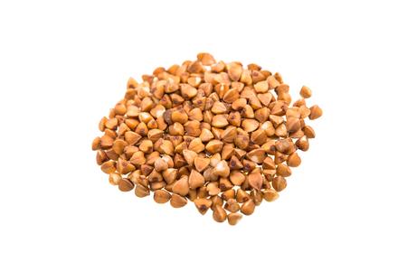 kasha: buckwheat groats isolated on a white background