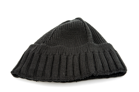 knitten: knitted cap on a white background
